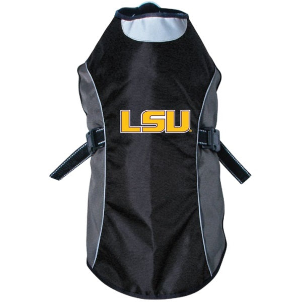 Hunter LSU Tigers Water Resistant Reflective Pet Jacket - X-Large-Sports Fans-Hunter-PetPhenom