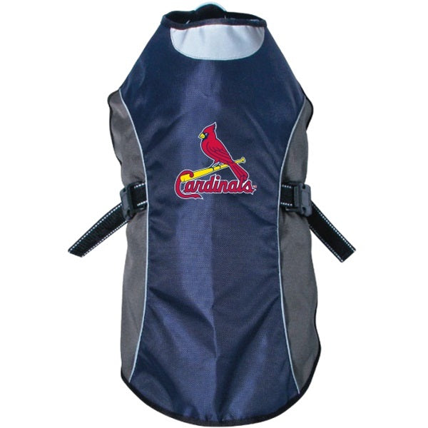 Hunter St. Louis Cardinals Water Resistant Reflective Pet Jacket - X-Large-Sports Fans-Hunter-PetPhenom