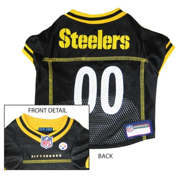 Pets First Pittsburgh Steelers Dog Jersey - XX-Large-Sports Fans-Pets First-PetPhenom