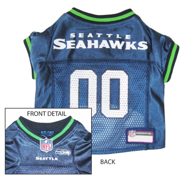 Pets First Seattle Seahawks Dog Jersey - XX-Large-Sports Fans-Pets First-PetPhenom
