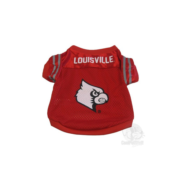 Pet Goods Manufacturing Louisville Cardinals Collegiate Pet Jersey - Large-Sports Fans-Pet Goods Manufacturing-PetPhenom