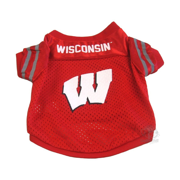 Pet Goods Manufacturing Wisconsin Badgers Collegiate Pet Jersey - Small-Sports Fans-Pet Goods Manufacturing-PetPhenom