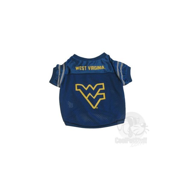 Pet Goods Manufacturing West Virginia Mountaineers Collegiate Pet Jersey - Large-Sports Fans-Pet Goods Manufacturing-PetPhenom