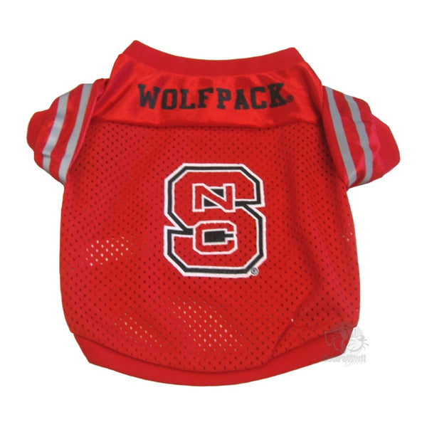 Pet Goods Manufacturing NC State Wolfpack Collegiate Pet Jersey - Small-Sports Fans-Pet Goods Manufacturing-PetPhenom