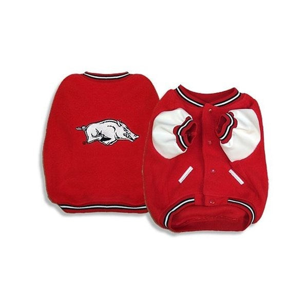 SportyK9 Arkansas Razorbacks Varsity Dog Jacket - X-Large-Sports Fans-SportyK9-PetPhenom