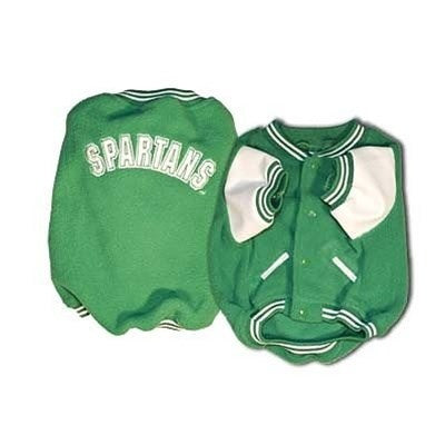 SportyK9 Michigan State Varsity Dog Jacket - X-Large-Sports Fans-SportyK9-PetPhenom