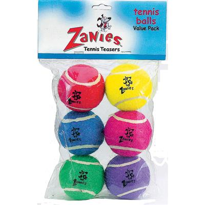 "Zanies® Zanies® Tennis Balls 2.5"" 6-PACK Assorted colors-Dog-Zanies-PetPhenom"