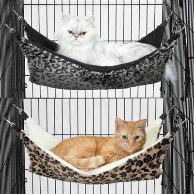 ProSelect® ProSelect® ThermaPet Cat Cage Hammock -Silver Leopard Print-Cat-ProSelect-PetPhenom