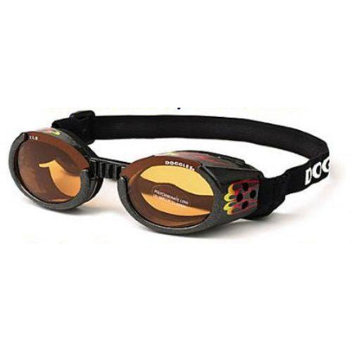 Doggles® Doggles ILS with Racing Flames with Orange Lens -X-Small-Dog-Doggles®-PetPhenom