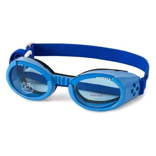 Doggles® Shiny Blue ILS Doggles with Blue Lens & Straps -X-Large-Dog-Doggles®-PetPhenom