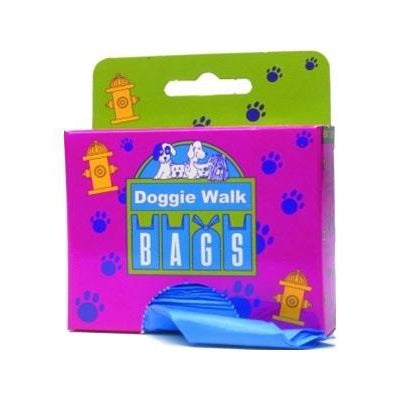 Doggie Walk Bags Classic Box Blue - Baby Powder - 25 Bags-Dog-Doggie Walk Bags-PetPhenom