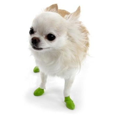 "PawZ Dog Boots PawZ - Green - Tiny - up to 1""-Dog-PawZ Dog Boots-PetPhenom"