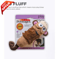 Petstages Stuffing Free Lil' Squeak Monkey Brown / Yellow-Dog-Petstages-PetPhenom