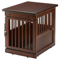 "Richell Wooden End Table Dog Crate Small Dark Brown 24"" x 18.1"" x 20.9""-Dog-Richell-PetPhenom"