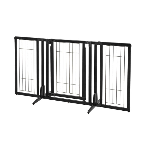 "Richell Premium Plus Freestanding Pet Gate Black 34""-63"" x 20.5""-26"" x 32""-Dog-Richell-PetPhenom"