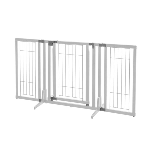 "Richell Premium Plus Freestanding Pet Gate Origami White 34""-63"" x 20.5""-26"" x 32""-Dog-Richell-PetPhenom"