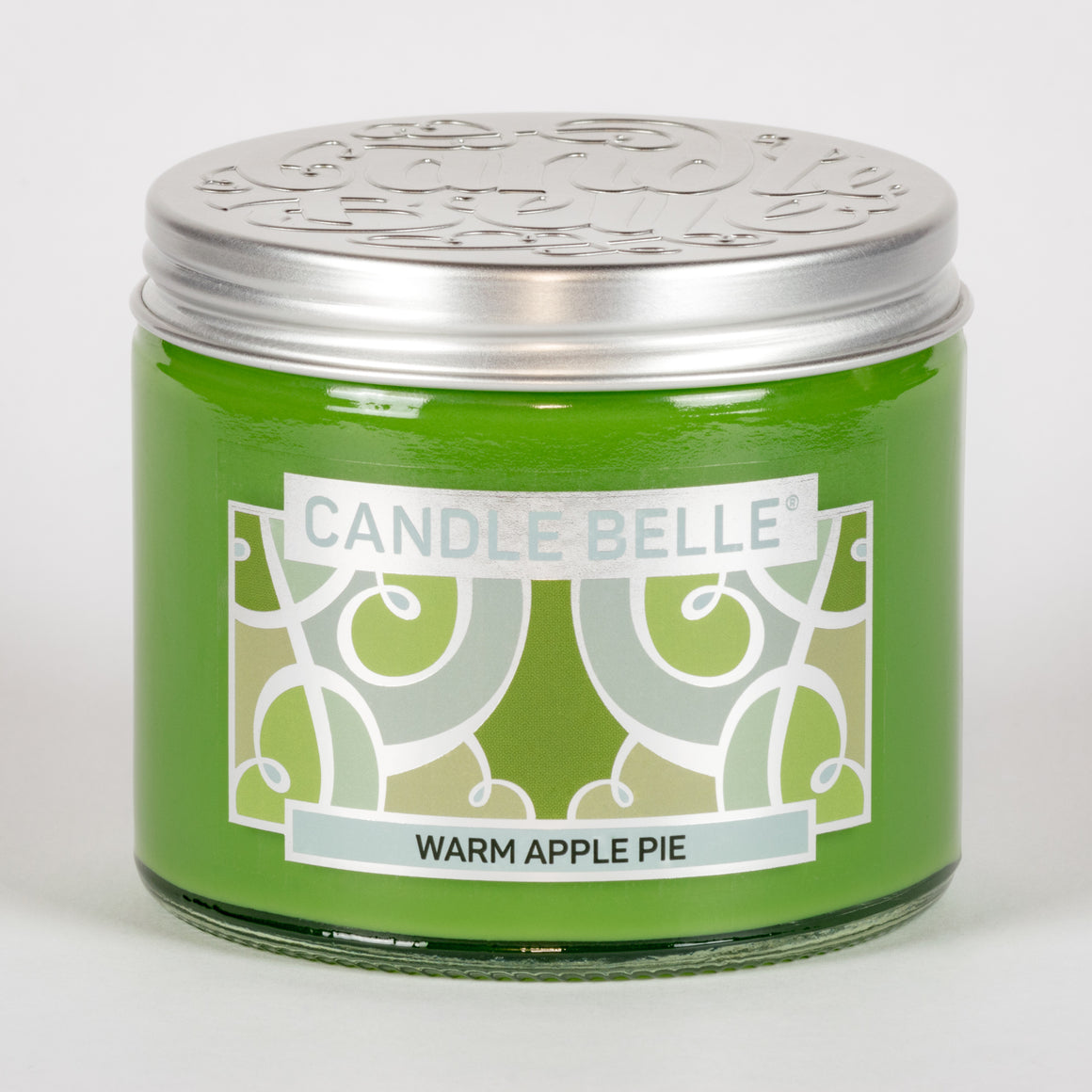 Candle Belle® Warm Apple Pie Fragranced Twin Wick Jar Candle 240g (3 Pack)