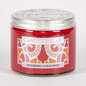 Candle Belle® Cranberry Citrus Spice Fragranced Twin Wick Jar Candle 240g (3 Pack)