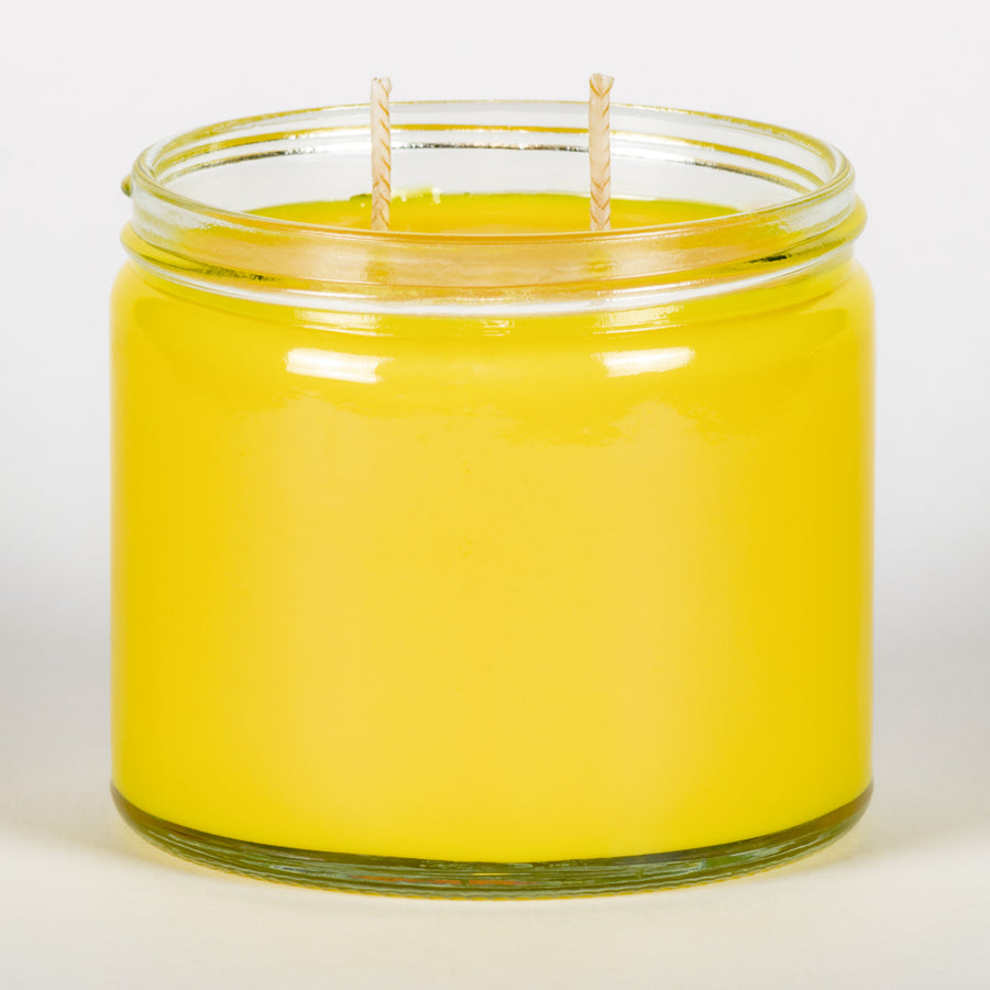Candle Belle® Lemongrass Fragranced Twin Wick Jar Candle 240g (3 Pack)