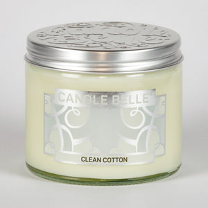 Candle Belle® Clean Cotton Fragranced Twin Wick Jar Candle 240g (3 Pack)