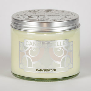 Candle Belle® Baby Powder Fragranced Twin Wick Jar Candle 240g (3 Pack)