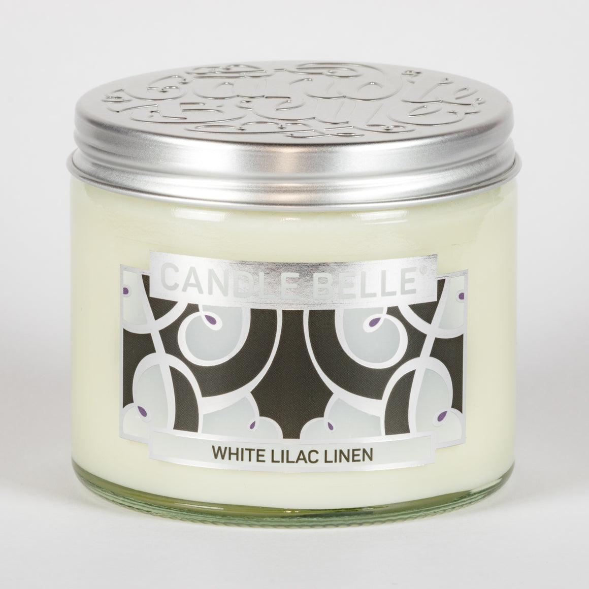 Candle Belle® DECO White Lilac Linen Fragranced Twin Wick Jar Candle 240g (3 Pack)