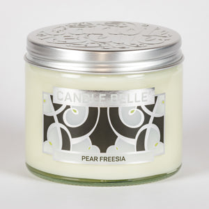 Candle Belle® DECO Pear Freesia Fragranced Twin Wick Jar Candle 240g (3 Pack)