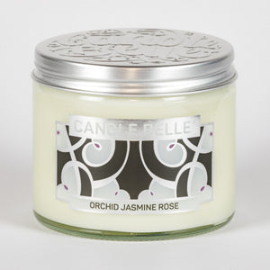 Candle Belle® DECO Orchid Jasmine Rose Fragranced Twin Wick Jar Candle 240g (3 Pack)