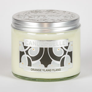 Candle Belle® DECO Orange Ylang Ylang Fragranced Twin Wick Jar Candle 240g (3 Pack)