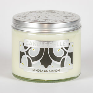 Candle Belle® DECO Mimosa Cardamom Fragranced Twin Wick Jar Candle 240g (3 Pack)