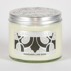 Candle Belle® DECO Mandarin Lime Basil Fragranced Twin Wick Jar Candle 240g (3 Pack)