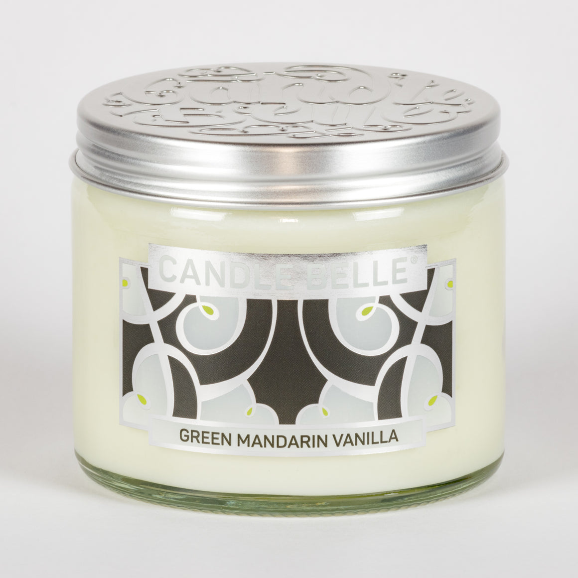Candle Belle® DECO Green Mandarin Vanilla Fragranced Twin Wick Jar Candle 240g (3 Pack)