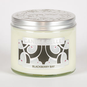 Candle Belle® DECO Blackberry Bay Fragranced Twin Wick Jar Candle 240g (3 Pack)