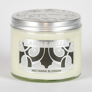 Candle Belle® DECO Nectarine Blossom Fragranced Twin Wick Jar Candle 240g (3 Pack)