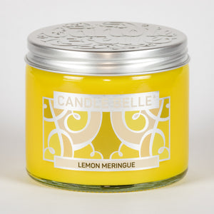 Candle Belle® Lemon Meringue Fragranced Twin Wick Jar Candle 240g (3 Pack)