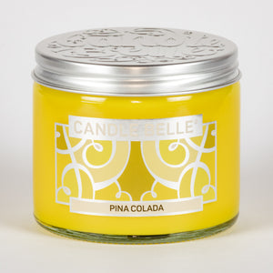 Candle Belle® Pina Colada Fragranced Twin Wick Jar Candle 240g (3 Pack)