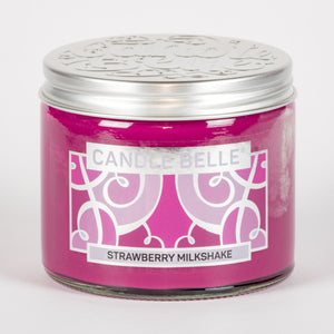 Candle Belle® Strawberry Milkshake Fragranced Twin Wick Jar Candle 240g (3 Pack)