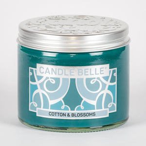 Candle Belle® Cotton & Blossoms Fragranced Twin Wick Jar Candle 240g (3 Pack)