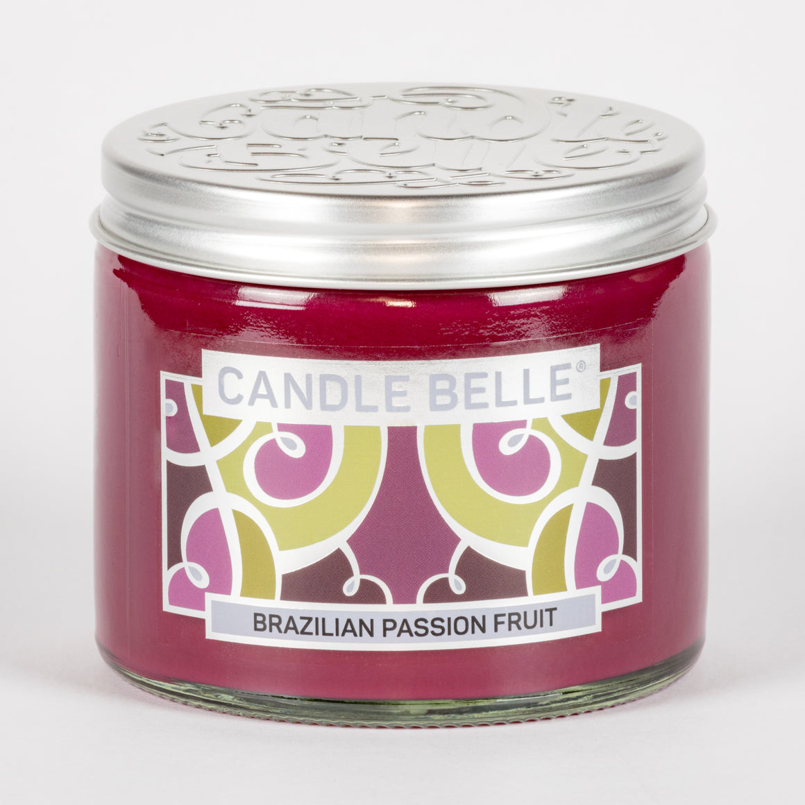 Candle Belle® Brazilian Passion Fruit Fragranced Twin Wick Jar Candle 240g (3 Pack)