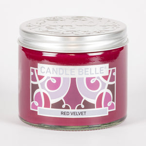Candle Belle® Red Velvet Fragranced Twin Wick Jar Candle 240g (3 Pack)