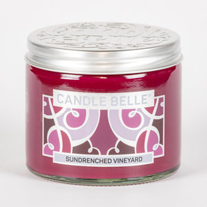 Candle Belle® Sundrenched Vineyard Fragranced Twin Wick Jar Candle 240g (3 Pack)
