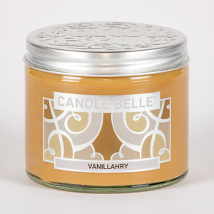Candle Belle® Vanillahry Fragranced Twin Wick Jar Candle 240g (3 Pack)