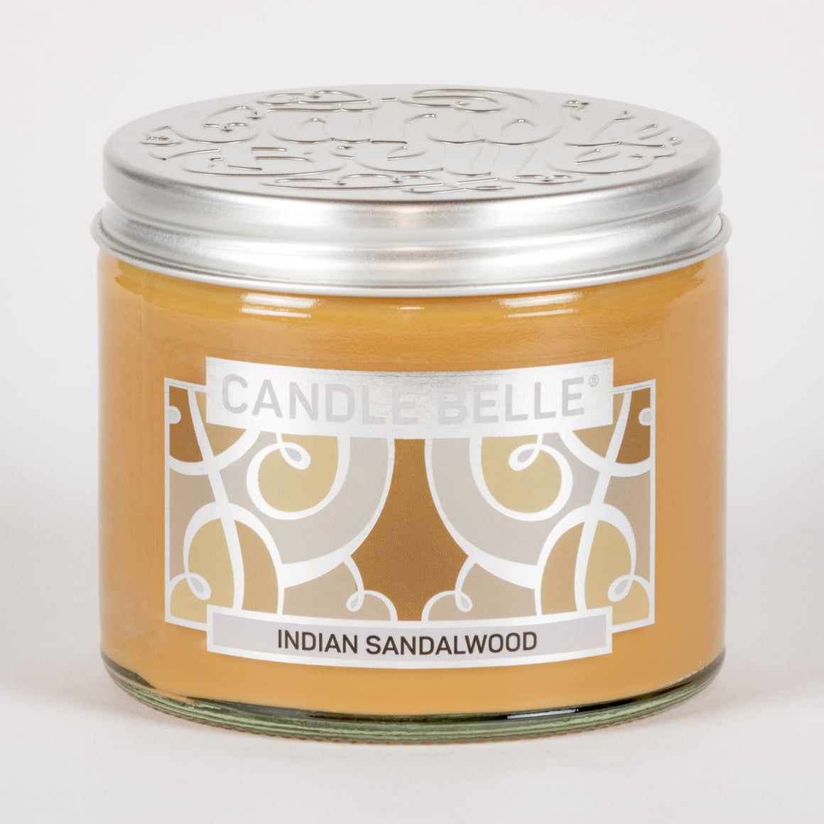 Candle Belle® Indian Sandalwood Fragranced Twin Wick Jar Candle 240g (3 Pack)