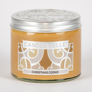 Candle Belle® Christmas Cookie Fragranced Twin Wick Jar Candle 240g (3 Pack)