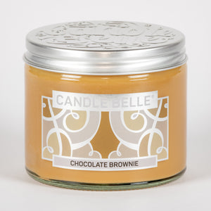 Candle Belle® Chocolate Brownie Fragranced Twin Wick Jar Candle 240g (3 Pack)