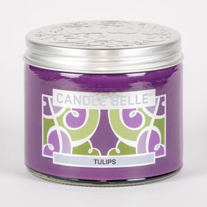 Candle Belle® Tulips Fragranced Twin Wick Jar Candle 240g (3 Pack)