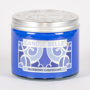 Candle Belle® Blueberry Cheesecake Fragranced Twin Wick Jar Candle 240g (3 Pack)