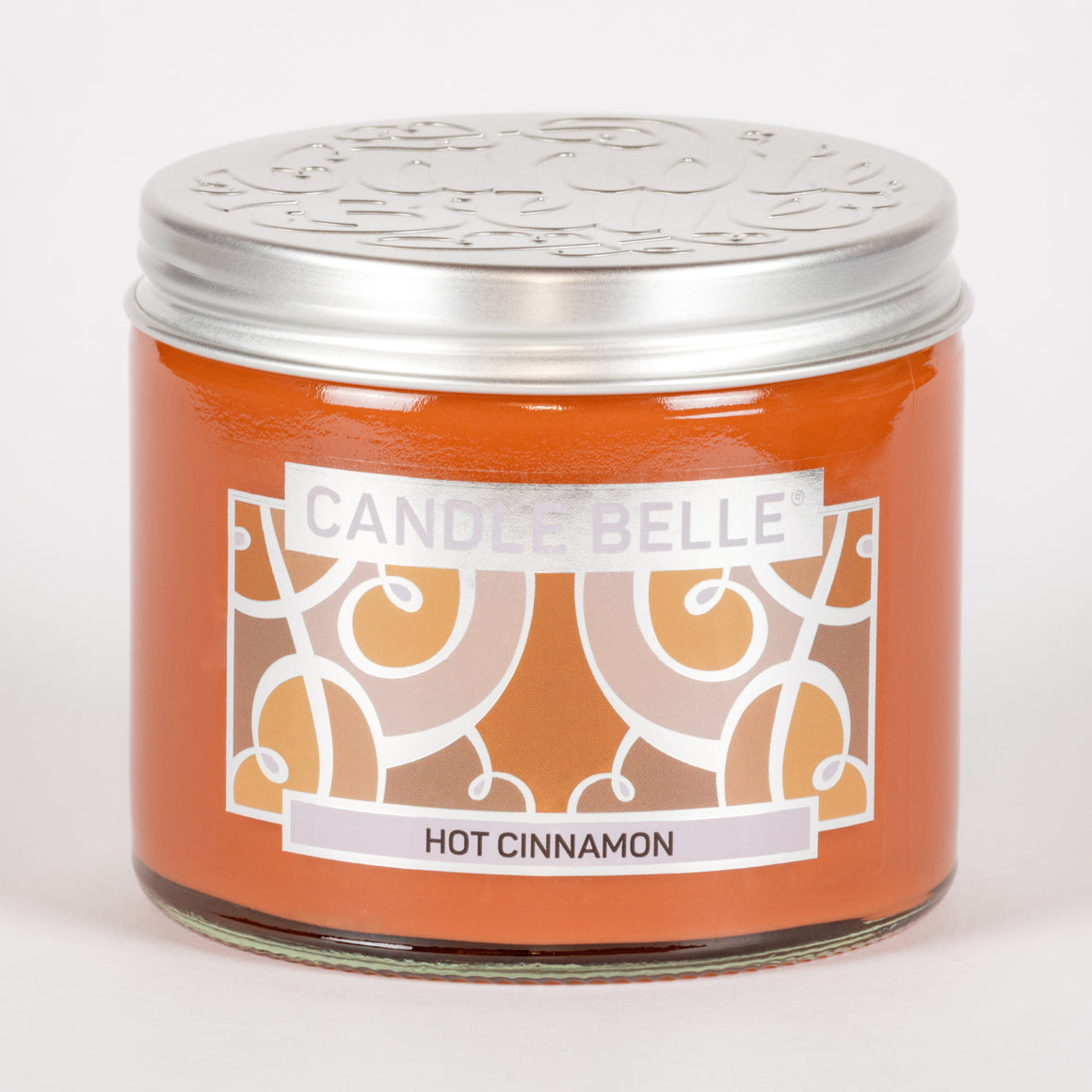 Candle Belle® Hot Cinnamon Fragranced Twin Wick Jar Candle 240g (3 Pack)