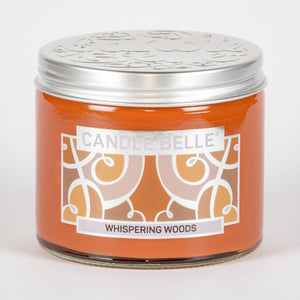 Candle Belle® Whispering Woods Fragranced Twin Wick Jar Candle 240g (3 Pack)