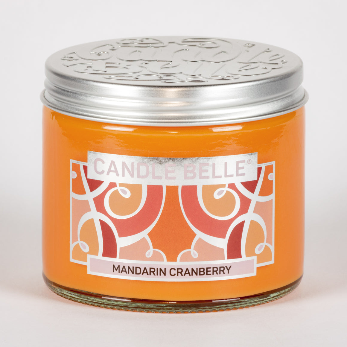 Candle Belle® Mandarin Cranberry Fragranced Twin Wick Jar Candle 240g (3 Pack)
